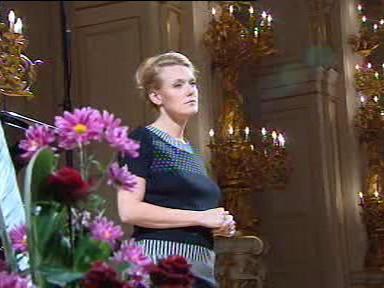 Magdalena Kožená na zkoušce