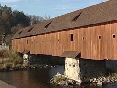 Dřevěný most v Kyselce