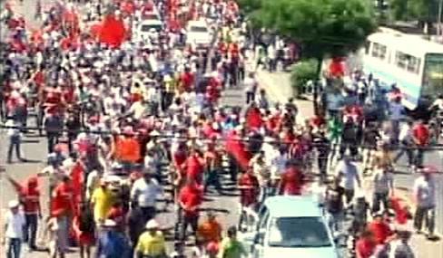 Opoziční demonstrace v Nikaragui