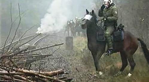 Protesty proti vlaku s jaderným odpadem