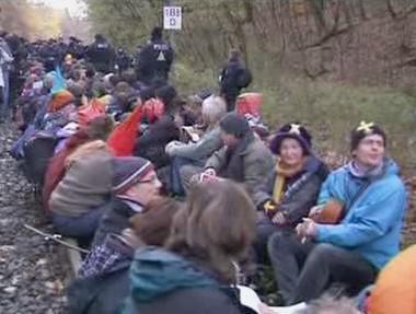 Protijaderný protest v Německu