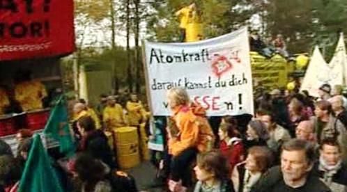 Protest proti převozu jaderného paliva