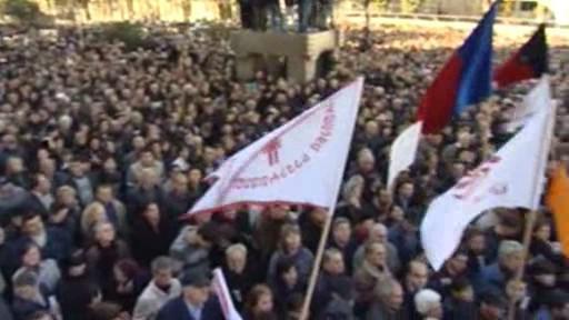 Demonstrace v Tbilisi
