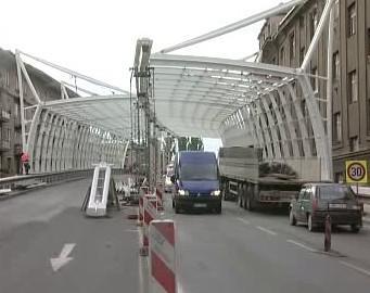 Výstavba protihlukové stěny v Hradci Králové
