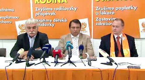 Vedení ČSSD po jednání Ústředního výkonného výboru