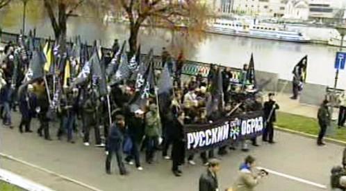 Demonstrace ruských nacionalistů