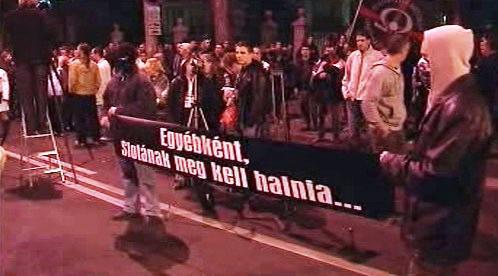 Demonstrace před slovenskou ambasádou