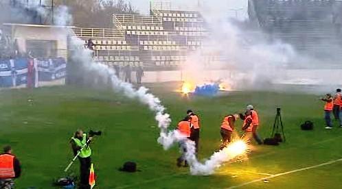 Výtržnosti fotbalových fanoušků