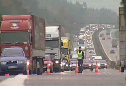 Kolony před nehodou na dálnici
