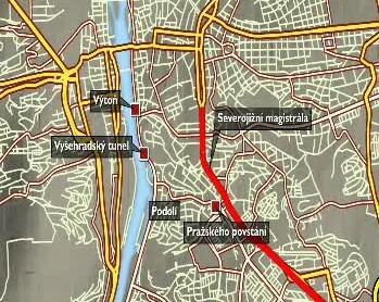 Objížďky Vyšehradského tunelu