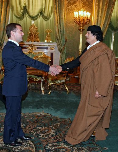 Muammar Kaddádí v Moskvě