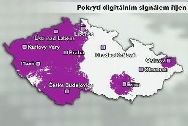 Pokrytí digitálním signálem říjen 2008