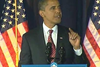 Barack Obama v televizním šotu
