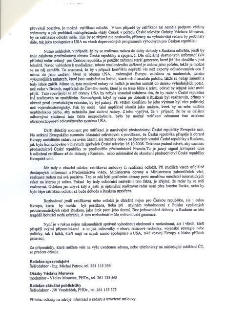 Falešný dopis České televize