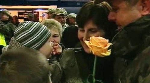 Návrat polských vojáků z Iráku.