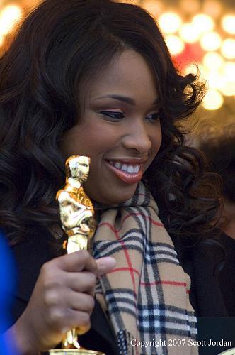 Jennifer Hudsonová se svým Oscarem