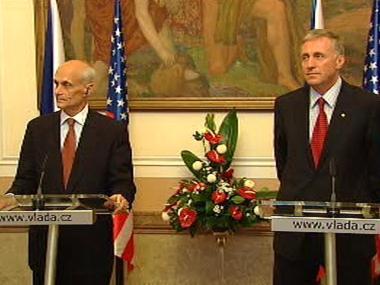 Mirek Topolánek a americký ministr Michael Chertoff