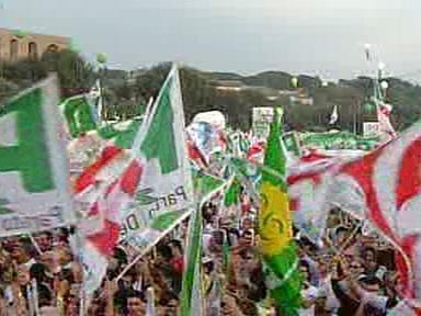 Protest proti Berlusconiho vládě