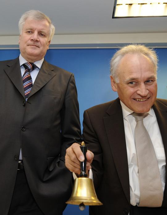 Horst Seehofer a Erwin Huber