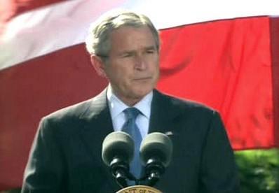 George Bush po oznámení zrušení víz pro Čechy