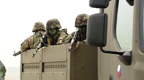 Přípravy na vojenskou přehlídku ke 28. říjnu