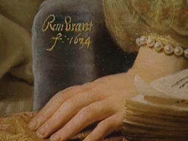 Podpis Rembrandta van Rijna