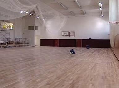 Interiér tělocvičny