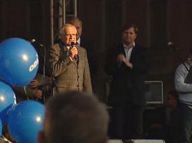 Václav Klaus na koncertu ODS