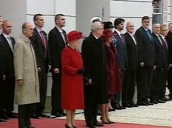 Britská královna a slovenský prezident