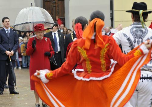 Britská královna Alžběta II. na Slovensku