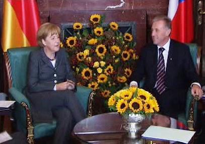 Angela Merkelová a Mirek Topolánek
