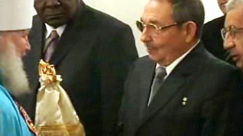 Metropolita Kirill a Raúl Castro