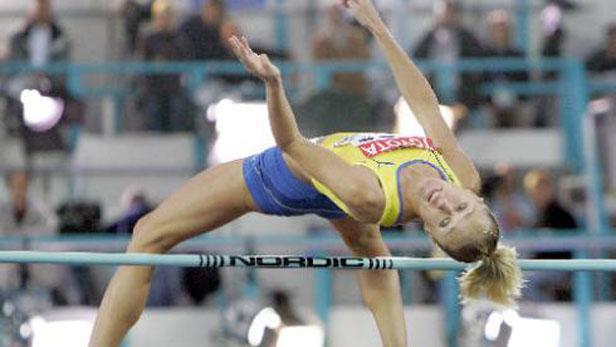 Švédská výškařka Kajsa Bergqvistová