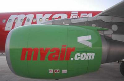 Letadlo aerolinek Myair.com