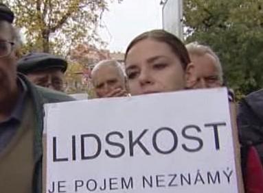 Protestující nájemníci