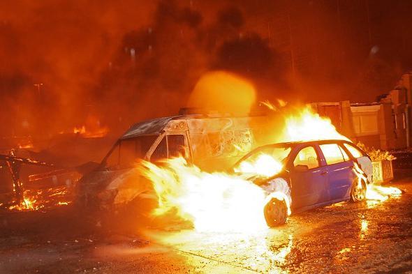 Požár vozidel
