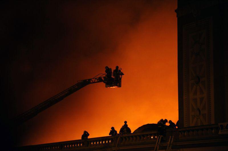 Požár Výstaviště