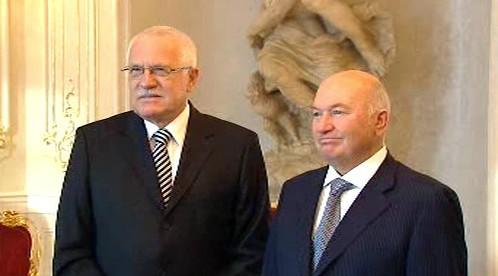 Václav Klaus a Jurij Lužkov