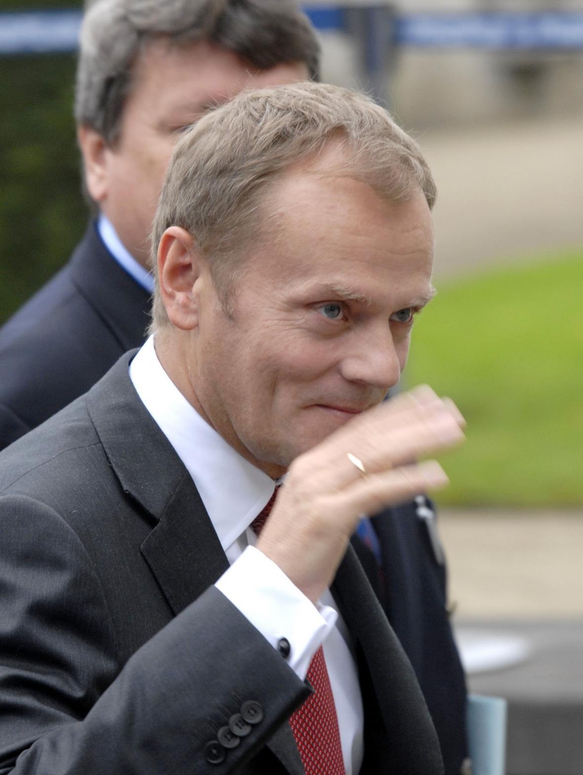 Donald Tusk na summitu EU