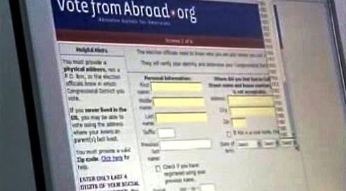 Formulář pro americké voliče v zahraničí