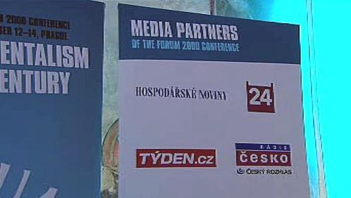 Mediální partneři konference Forum 2000