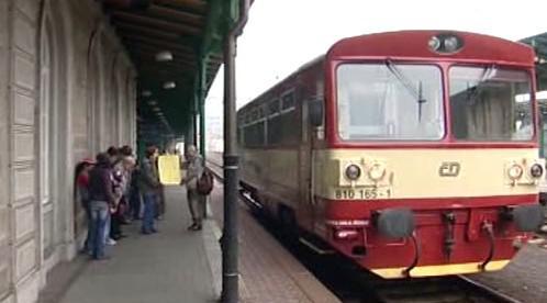 Vlak v Děčíně