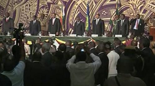 Podpis dohody o rozdělení moci v Zimbabwe