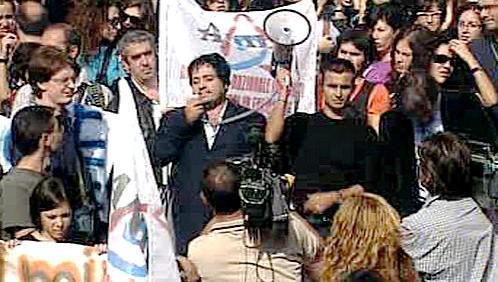Protest italských učitelů