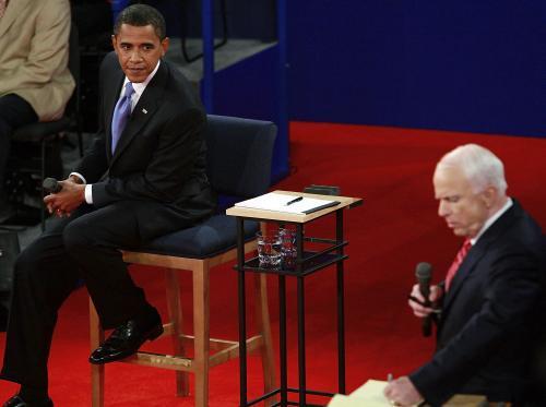 Druhý televizní duel Obamy a McCaina