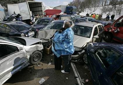 Hromadná havárie na dálnici D1