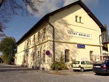 Vlakové nádraží v Českém Krumlově