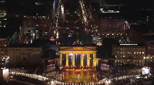 Symbolická Berlínská zeď u Braniborské brány