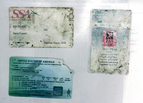 Nalezené dokumenty Steva Fossetta