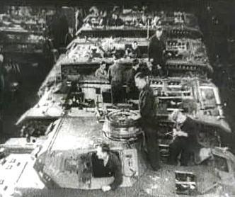 Výroba tanků v nacistickém Německu